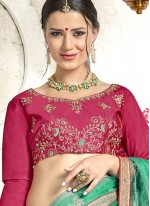 Banglori Silk Hot Pink Diamond Lehenga Choli
