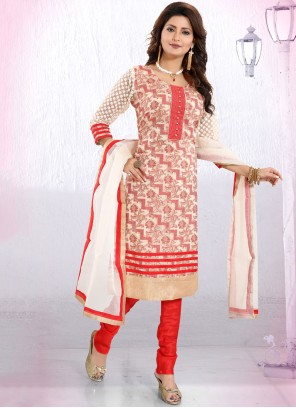 Banglori Silk Red Fancy Churidar Designer Suit