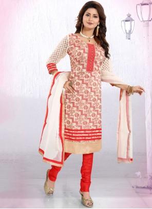 Banglori Silk Red Fancy Churidar Designer Suit