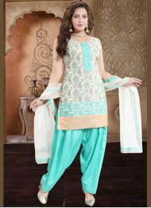 Banglori Silk Sea Green Readymade Suit