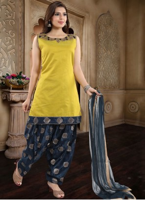 Banglori Silk Yellow Readymade Suit