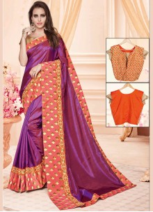 Baronial Zari Work Art Silk Traditional  Saree