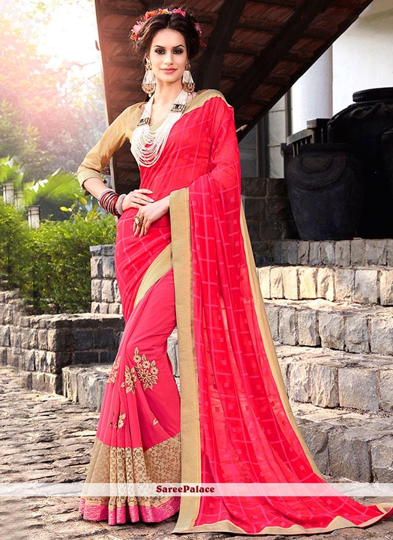 Beauteous Jacquard Hot Pink Classic Designer Saree