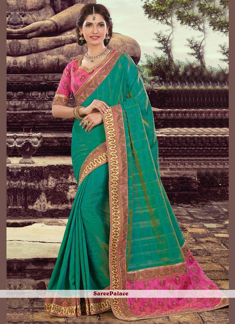 Beautiful Art Silk Embroidered Work Designer Traditional Saree