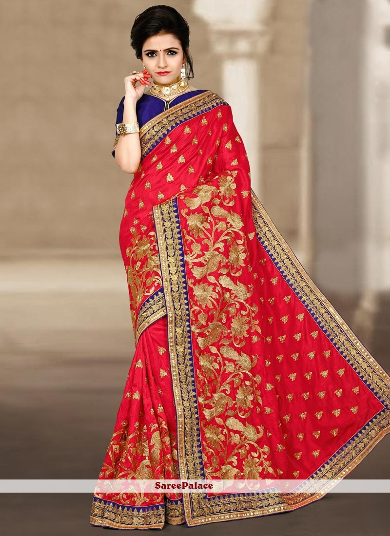 Beautiful Art Silk Zari Work Designer Traditional Saree