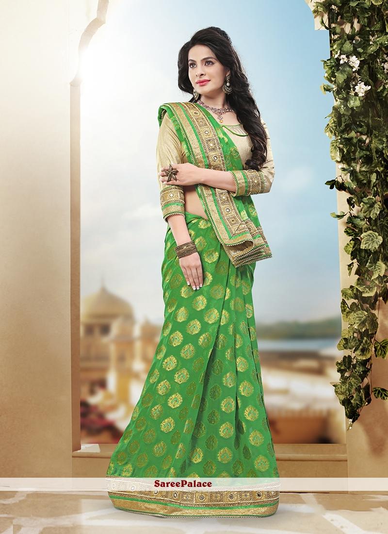 Beckoning Art Silk Sequins Work Designer Traditional Saree