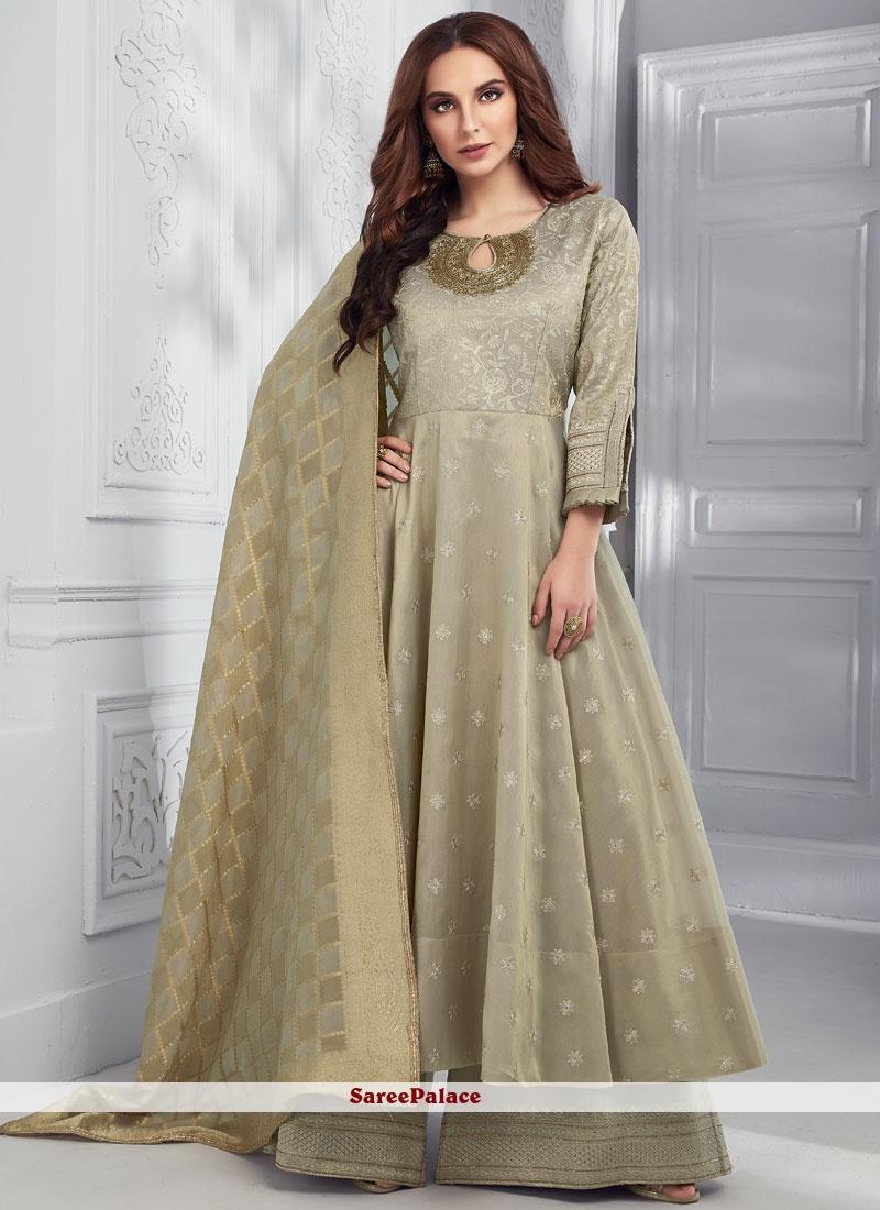 Beige Color Designer Salwar Suit