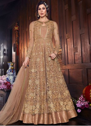 Beige Color Long Length Anarkali Salwar Suit