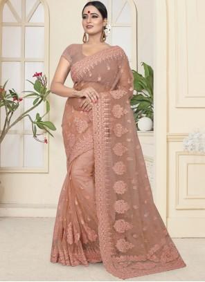 Beige Designer Traditional Saree