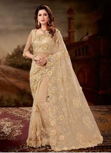 Beige Engagement Classic Designer Saree