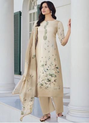 Beige Festival Designer Pakistani Suit