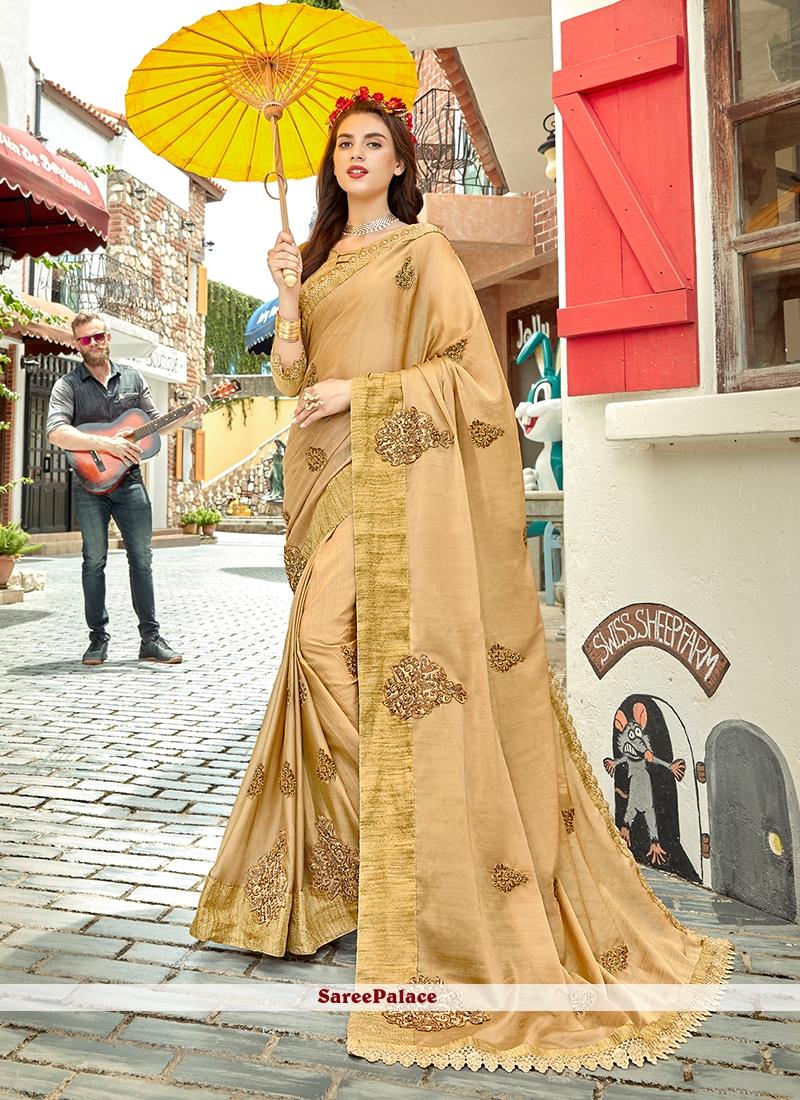 Beige Festival Trendy Saree