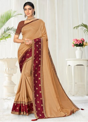 Beige Party Casual Saree