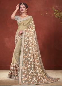 Beige Sangeet Classic Designer Saree