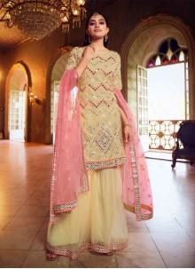 Beige Thread Designer Pakistani Salwar Suit