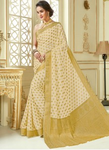 Beige Traditional Designer Saree