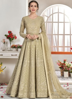 Beige Trendy Anarkali Salwar Suit