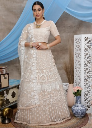 Beige Trendy Designer Lehenga Choli