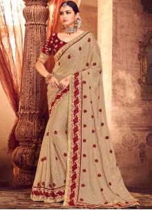 Beige Wedding Classic Saree