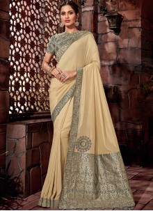 Beige Wedding Designer Saree