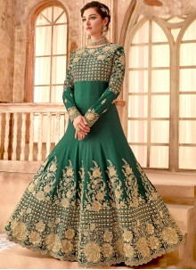 Bembarg Green Anarkali Salwar Suit