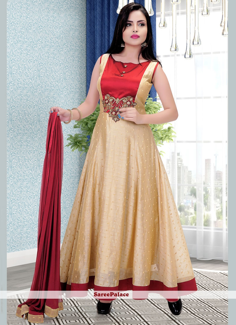 Best Art Silk Readymade Anarkali Salwar Suit