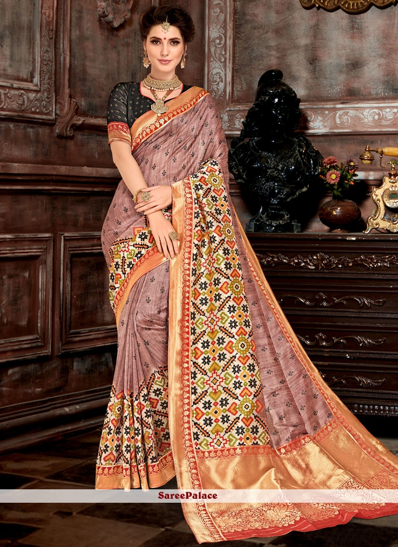 Bhagalpuri Silk Weaving Designer Saree
