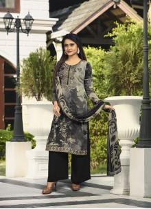 Black and Grey Ceremonial Designer Salwar Kameez