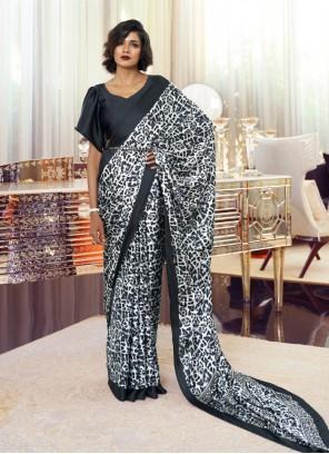 Black and White Classic Saree