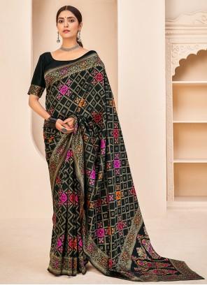 Black Banarasi Silk Weaving Designer Traditional Saree