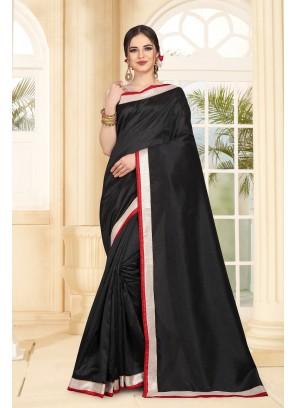 Black Art Silk Casual Saree