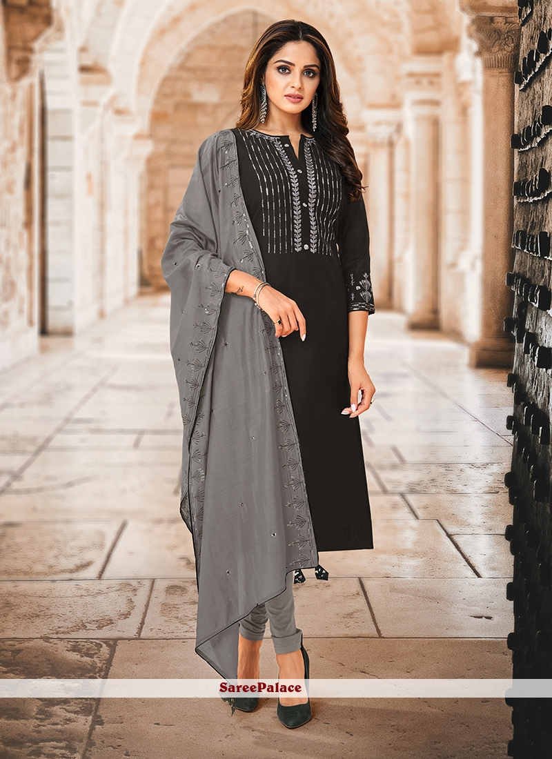 Black Ceremonial Anarkali Salwar Suit