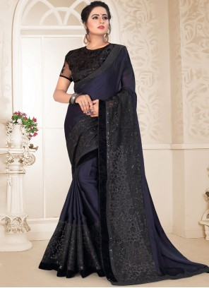 Black Ceremonial Classic Designer Saree
