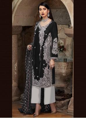 Black Ceremonial Designer Pakistani Suit