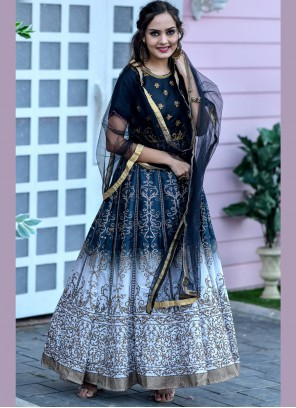 Black Chanderi Festival Designer Floor Length Suit