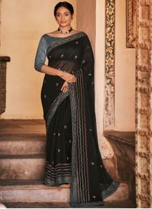 Black Classic Designer Saree