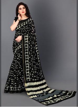 Black Color Bollywood Saree