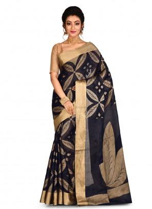 Black Color Contemporary Saree