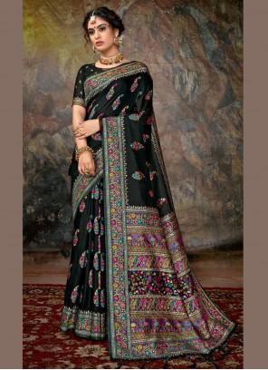 Black Color Designer Saree