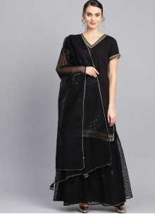 Black Color Readymade Suit