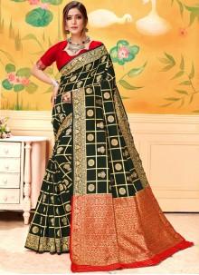 Black Color Silk Saree