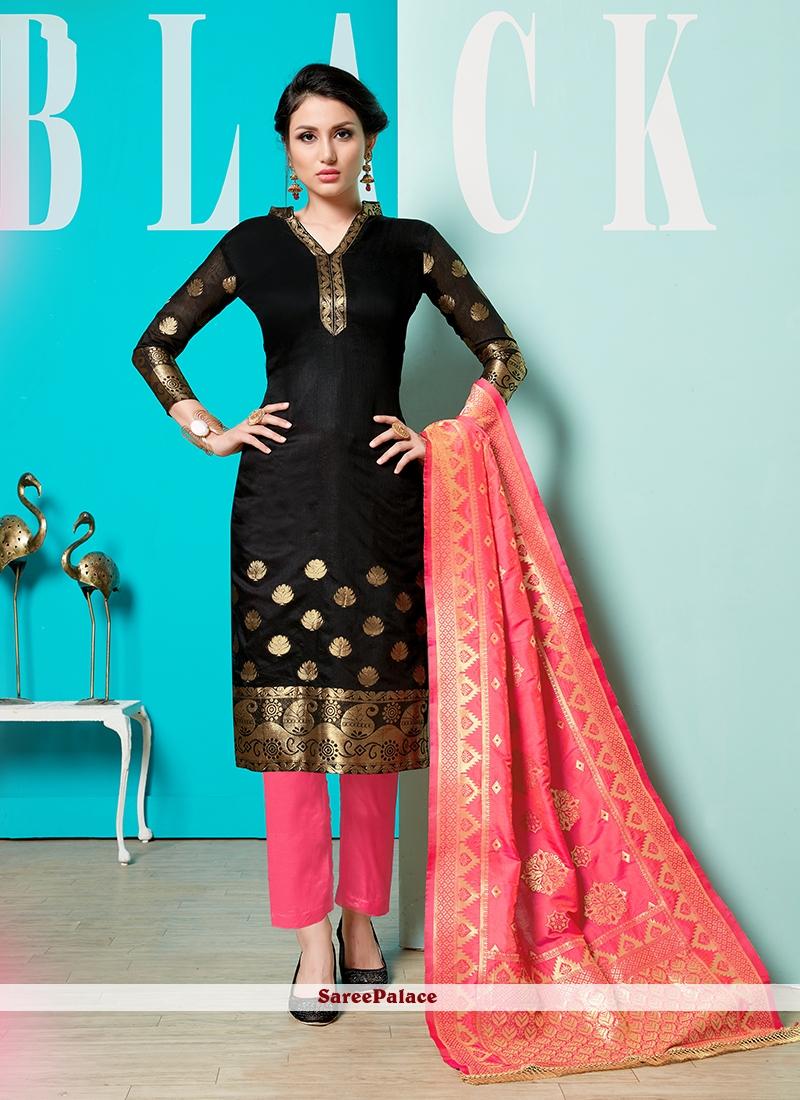 61f71d1809 Buy Black Cotton Pant Style Suit Online