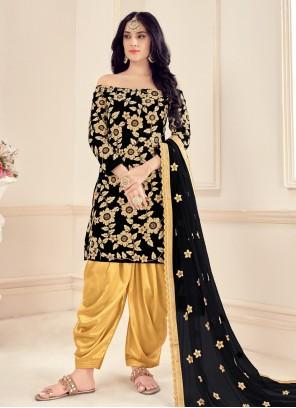 Black Designer Patiala Suit