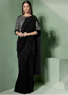 Black Designer Saree