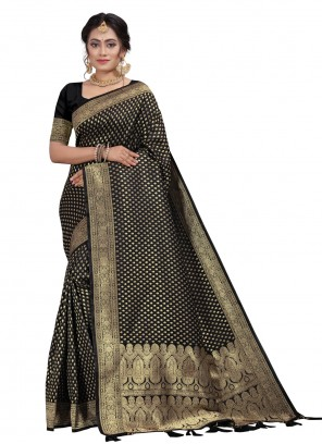 Black Engagement Designer Traditional Saree