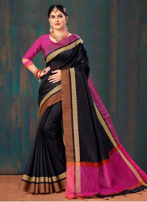 Black Fancy Classic Saree