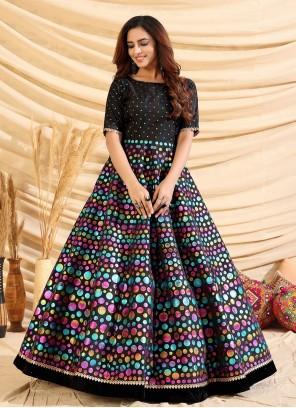 Black Fancy Designer Gown