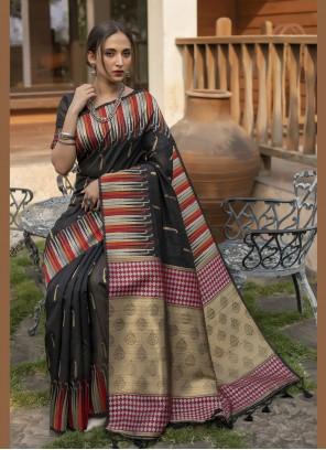 Black Fancy Designer Traditional Saree