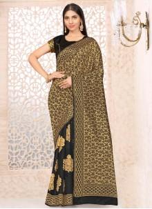 Black Festival Banarasi Silk Traditional Designer Saree