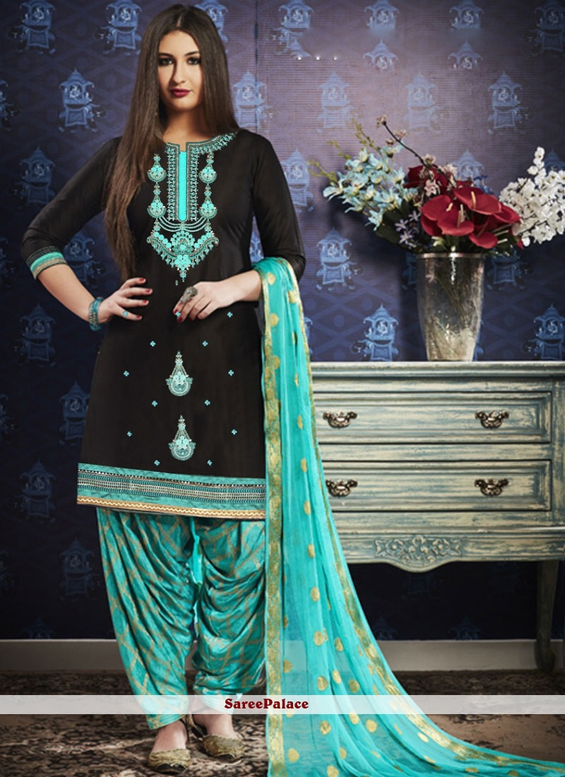 Black Festival Designer Patiala Suit